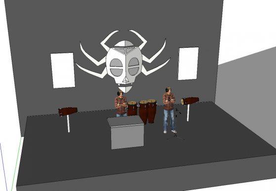 Plan scène Wanga Music